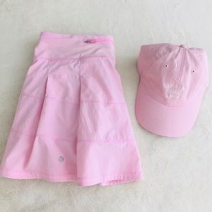 Lululemon Pace Rival Skirt Miami Pink Size 6 & cap